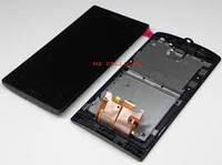 Sony Xperia miro ST23i black LCD, модуль, дисплей с сенсорным экраном с рамкой в сборе