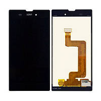 Sony Xperia T3 M50W black LCD, модуль, дисплей с сенсорным экраном с рамкой в сборе