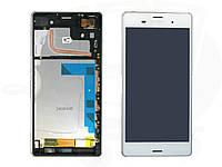 Sony Xperia Z3 white LCD, модуль, дисплей с сенсорным экраном с рамкой в сборе