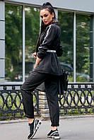 Стильный брючный костюм с жакетом на подкладке 1197 (42–48р) в расцветках, фото 8
