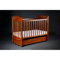 Детская кроватка Laska-M Наполеон VIP с ящиком (продольный маятник)