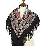 Нежный вечер 1195-18, павлопосадский платок шерстяной с шерстяной бахромой, фото 2