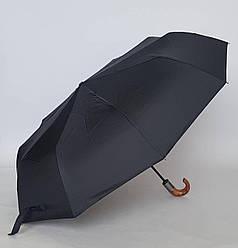 Зонт автоматический антиветер «Три слона» черный цвет