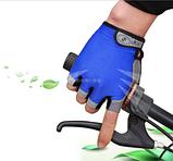 Рукавички Sport велосипедні сині гель, фото 2