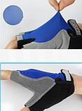 Рукавички Sport велосипедні сині гель, фото 4