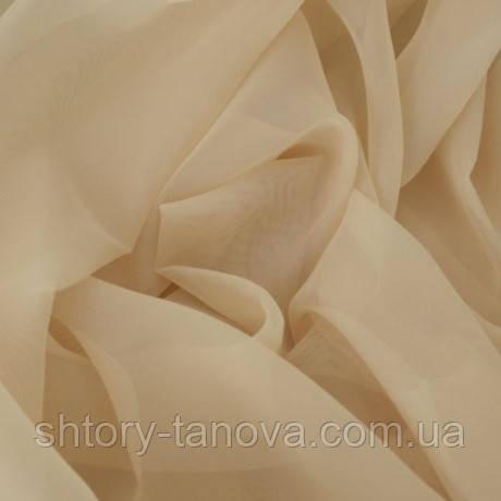 Тюль вуаль однотон. светлая глина