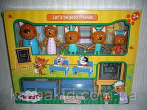 """Детский игровой набор """"Три кота"""" В школе / 5 фигурок Семья """"Три кота"""" школа - М-8812, фото 3"""