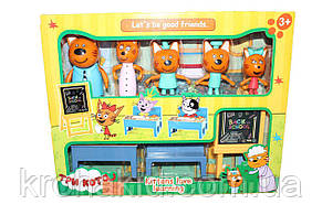 """Детский игровой набор """"Три кота"""" В школе / 5 фигурок Семья """"Три кота"""" школа - М-8812, фото 2"""