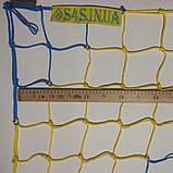 Сетка-гаситель для футзала, гандбола «ЭЛИТ» желто-синий (комплект из 2 шт.), фото 4
