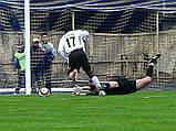 Сетка для футбола повышенной прочности «СТАНДАРТ ПЛЮС 2.1» желто-синяя (комплект 2 шт.), фото 3