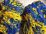 Сетка для футбола повышенной прочности «СТАНДАРТ ПЛЮС 2.1» желто-синяя (комплект 2 шт.), фото 2