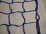 Сетка для футбола повышенной прочности «ЭЛИТ» желто-синяя (комплект 2 шт.), фото 3