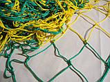 Сетка для футбола повышенной прочности «СТАНДАРТ ПЛЮС» желто-синяя (комплект 2 шт.), фото 5