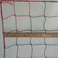 Сетка-гаситель для футзала, гандбола «ЭКОНОМ» красно-зеленый (комплект из 2 шт.)