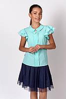 """Школьная  блуза c коротким рукавом для девочки """"Жасмин"""" (128-164р)"""