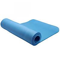 Коврик для фитнеса LiveUp NBR MAT синий
