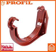 Водосточная пластиковая система PROFIL 90/75 (ПРОФИЛ ВОДОСТОК). Держатель желоба пластик, кирпичный