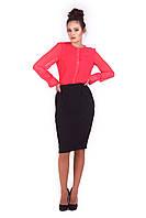 Деловая женская юбка-карандаш Черная, фото 1