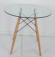 Стол стеклянный Lui (Луи), d-60