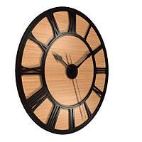 Настенные часы Декор Карпаты UGT012-В Черный с коричневым (LWIl86320)