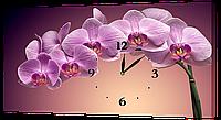 Настенные часы на холсте Декор Карпаты Орхидеи c165 Фиолетовый (UKVr25405)