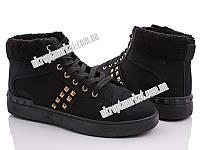 """Ботинки женские A19-b black (8 пар р.36-41) """"Ailaifa"""" LG-1486"""