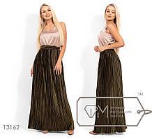 Модная молодёжная юбка с бархата гофре S M