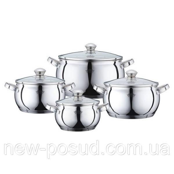 Набор кастрюль из нержавеющей стали - 8 пр. Peterhof PH15833