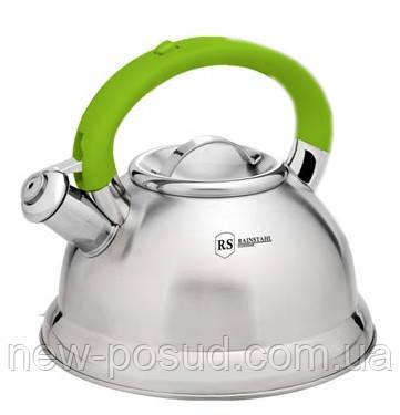Чайник из нержавеющей стали со свистком 3,2 L Rainstahl RS 7623-32 Green