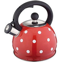 Чайник из нержавеющей стали со свистком 2 L Rainstahl RS 7638-20 Red