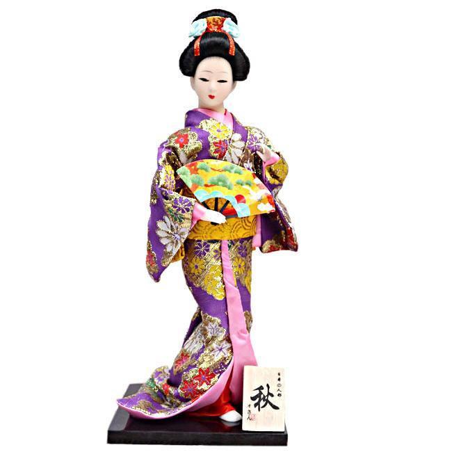Японская кукла «Майко с веером»
