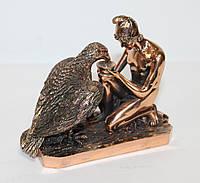 Статуэтка Ганимед с орлом с медным покрытием