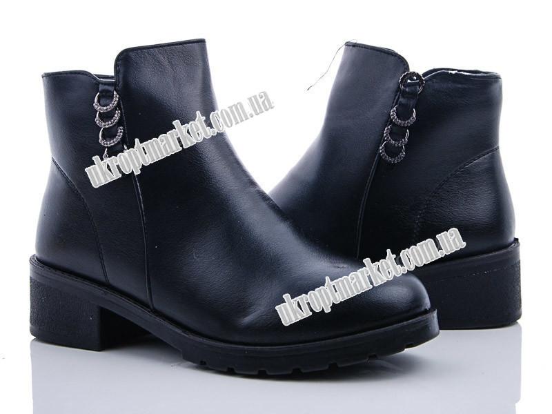 """Ботинки женские 255 black (8 пар р.36-41) """"Ailaifa"""" LG-1486"""