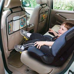 Органайзер на спинку сидения автомобильный, комплект 2 шт, прозрачный