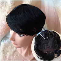 Полупарик, накладка на макушку на зажимах черный 05-07 - 1, фото 1