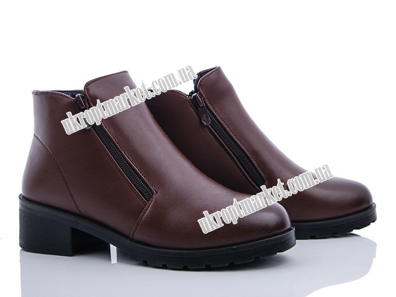 """Ботинки женские 206 brown (8 пар р.36-41) """"Ailaifa"""" LG-1486"""