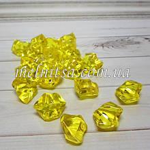 """Декоративные кристаллы """"Искусственный лед"""" , 5 шт, 2 х 2,5 см, цвет желтый"""