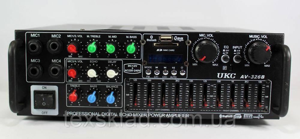 Усилитель звука UKC AMP AV-326BT для акустики