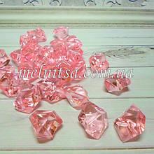 """Декоративные кристаллы """"Искусственный лед"""" , 5 шт, 2 х 2,5 см, цвет розовый"""