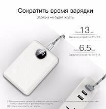 Power bank (Внешний аккумулятор) PZOZ 10000mAh c Dual USB и OLED дисплеем HM007, фото 2