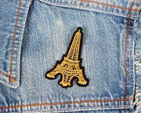 Яркие и модные патчи нашивки для одежды «Эйфелева башня»