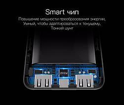 Power bank (Внешний аккумулятор) PZOZ 10000mAh c Dual USB и OLED дисплеем HM007, фото 3