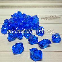 """Декоративные кристаллы """"Искусственный лед"""" , 5 шт, 2 х 2,5 см, цвет синий"""