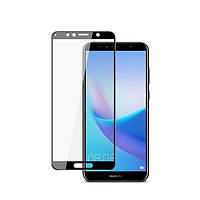 Захисне скло Huawei Y6 2019/Honor 8A 2.5D full glue glass прозоре (чорне) VMAX