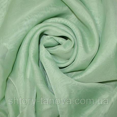Тюль вуаль однот.палевый зеленый