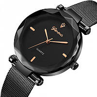 Женские часы Geneva GUCCI black+gold