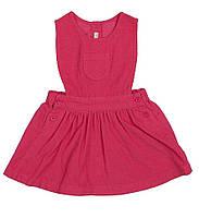 Розовый вельветовый сарафан для девочки, United Colors of Benetton, 132495
