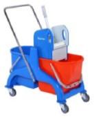 Візок для прибирання з віджимом SCP50 на 2 відра (2*25л) ТМ ДарЄвроХім
