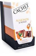 Бельгійський шоколад Cachet 100гр (Бельгія) молочний шоколад з мигдалем і медом