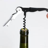 Полуавтоматический штопор открывалка для бутылок нож 3в1